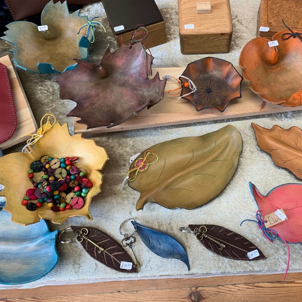 Creators of Craft Tewkesbury Crafter Clare Griffiths Leather Bowls