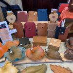 Creators of Craft Tewkesbury Crafter Clare Griffiths Leather Pouches Bowls