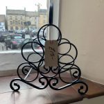 Creators of Craft Tewkesbury Crafter Gordon Hemmings Metal Work Wine Rack
