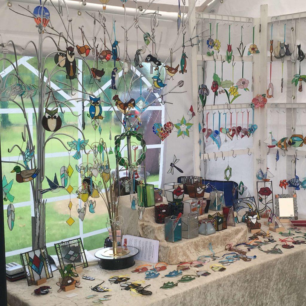 Creators of Craft Tewkesbury Hirmoi Richard Wyke Stained Glass Ornaments 4