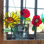 Creators of Craft Tewkesbury Hirmoi Richard Wyke Stained Glass Ornaments Flowers