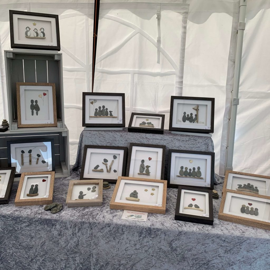 Creators of Craft Tewkesbury Jade Atton Pebble Art Beach Stones Pictures