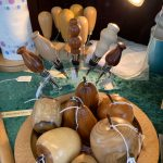 Creators of Craft Tewkesbury Crafter Jane Mckya Wood Turned Apples Wine Bottle Stoppers