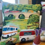 Creators of Craft Tewkesbury Crafter Jo Madden Sewing Textiles Pillows Camping