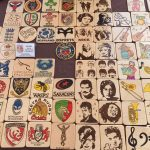 Creators of Craft Crafts Tewkesbury Crafter Mike Kilmister Pyrography Coasters