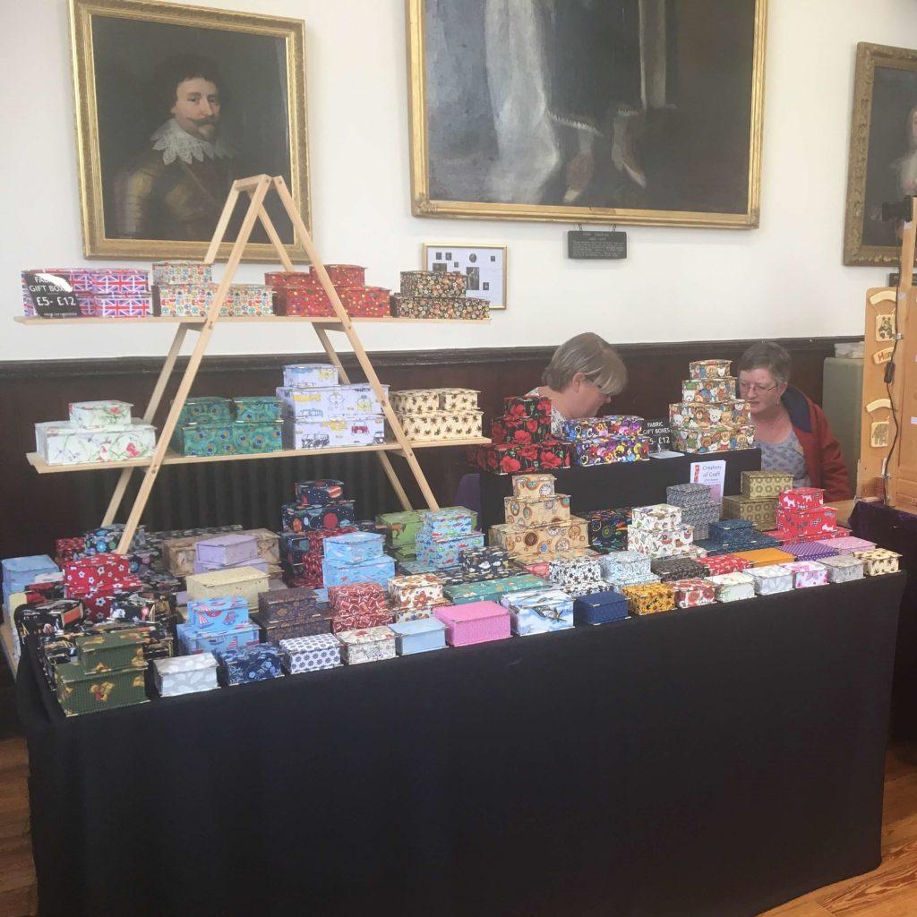 Creators of Craft Tewkesbury Crafter Nikki John Simmonds Textile Boxes