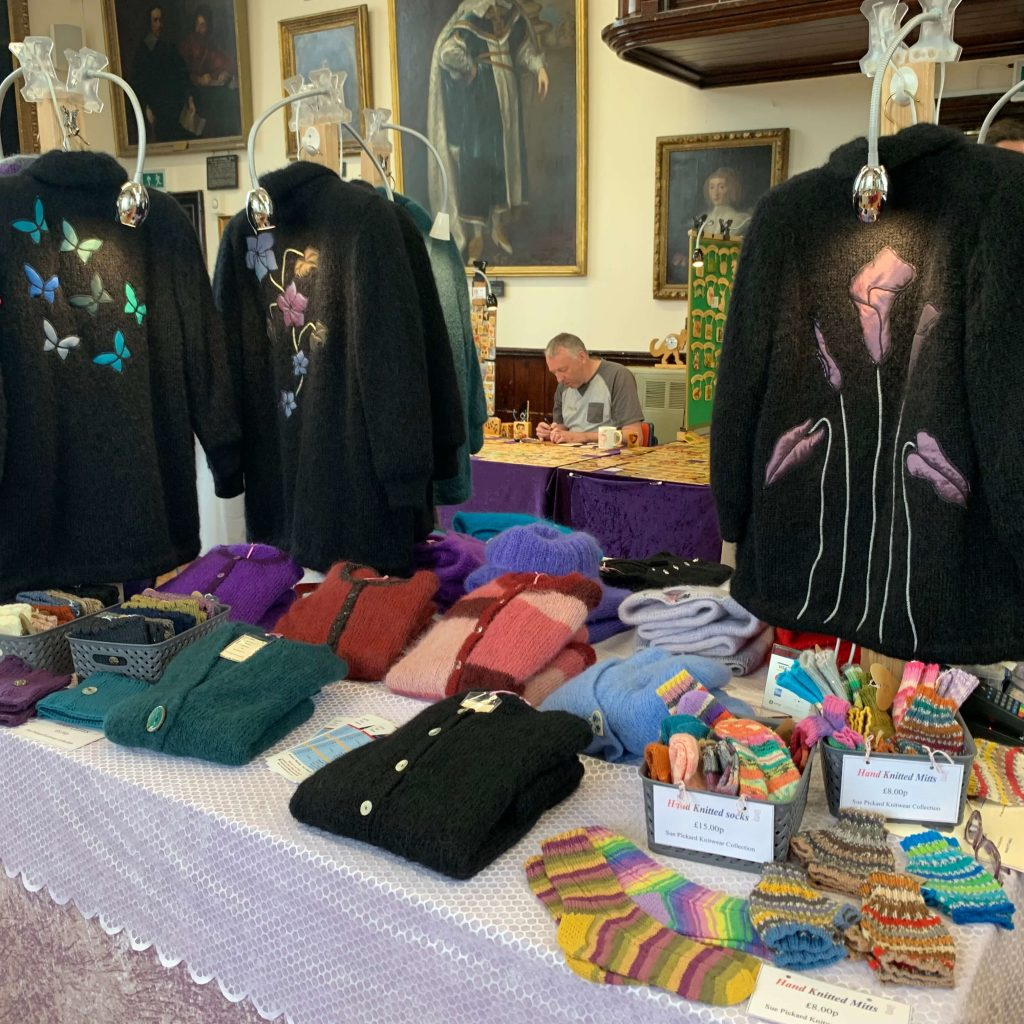Creators of Craft Tewkesbury Crafter Sue Laurie Pickard Knitting Socks